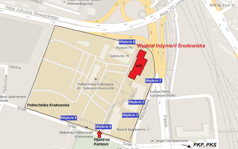 Mapa campus pk